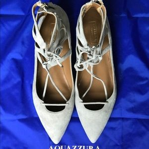 Aquazurra Belgravia flats, 39, light grey suede